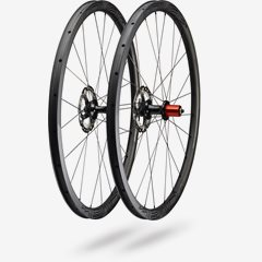 CLX 32 DISC 650B WHEELSET SATIN CARBON/GLOSS BLK